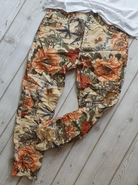 Hose L 40 bunt Jeans KAROSTAR Chino Boyfriend Italy Style Jeans