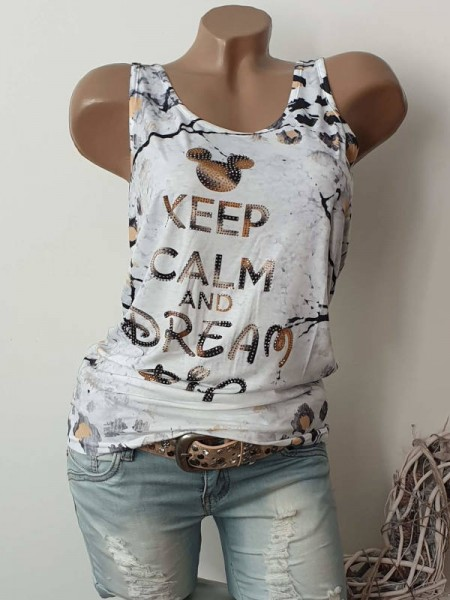 MISSY Top Longtop Shirt S 36 Mouse Kopf Glitzer Nieten Neue Kollektion