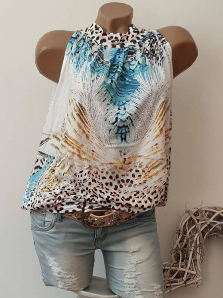 Patchworkprint Longtop Tunika Top M 40 Ballonform Bündchen MISSY
