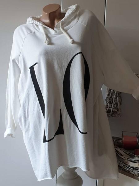 Tunika 42 44 46 Longsleeve Shirt mit Kapuze Italy
