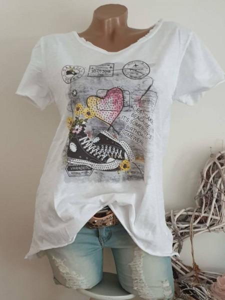 T-Shirt Shirt 38 40 42 Tunika Glitzer Nieten unfinished