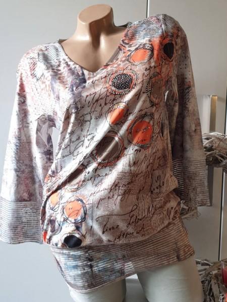 Tunika M 38 40 MISSY Shirt Ausbrenner kleines Bündchen