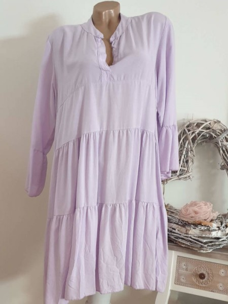 lila flieder Italy Tunika Kleid 40 42 44 Neu Hängerchen Viskose