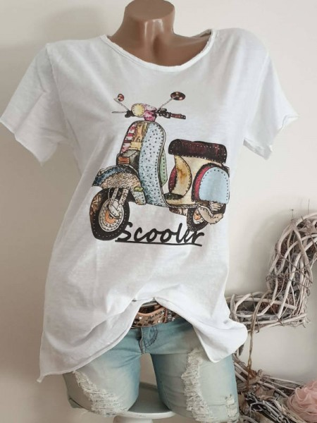 T-Shirt Shirt 38 40 42 Tunika Roller Glitzer Nieten unfinished