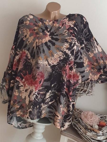 Tunika Shirt Dip Dye Batik 44 46 48 NEU Oversized Italy