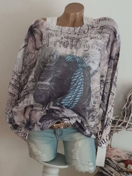 Fledermausärmel Feinstrick Pullover 40 42 44 Pulli weiss schwarz blau