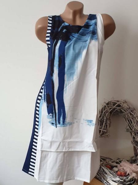 42 C´Fait Pour Vous Ärmelloses Kleid Sommerkleid Tunika NEU