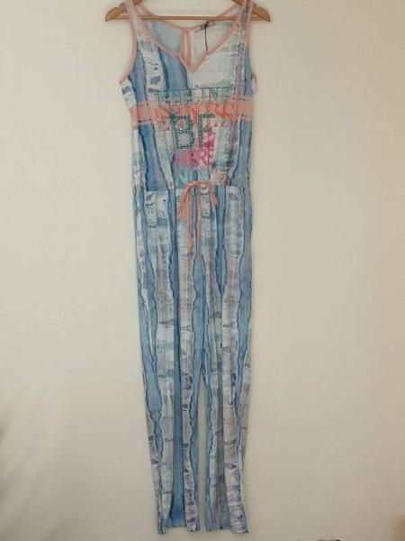 Overall XL 42 Jumpsuit MISSY Einteiler bunt stretchig Hose tiefe Taille NEU