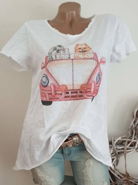 Italy T-Shirt Shirt 38 40 42 Tunika Glitzer Nieten unfinished