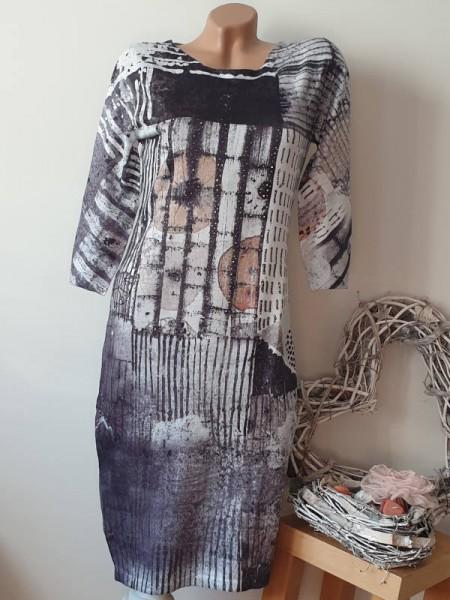 Feinstrickkleid Kleid Stretchkleid Strickkleid S/M 36 38 MISSY Glitzer Strass