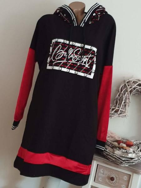 Kapuzenkleid MISSY Tunika XL 42 Kleid sportlich/festlich/elegant Nieten Glitzer