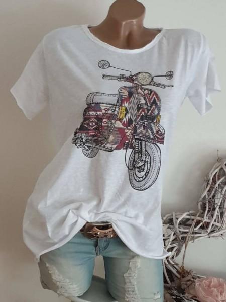 T-Shirt Shirt 38 40 42 Tunika Navajoprint Roller Glitzer Nieten unfinished
