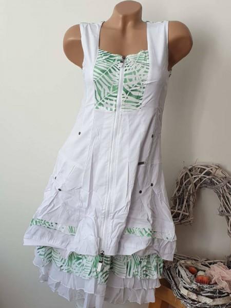 Empirekleid 38/40 Neu ärmelloses Kleid Patchworkdetails Französische Mode