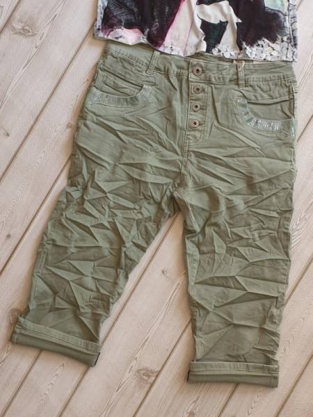 khakigrün Jeans Bermuda Capri 3/4 Hose KAROSTAR 4XL 48 kurze Sommerhose Baggy